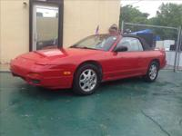 BEAUTYFULL NISSAN 240 SX CONVERTIBLE WITH LEATHER RIMS