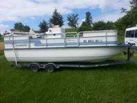 1993 Pontoon Deck Boat & Trailer  21 Feet long / 14