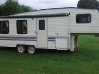 25 ft long 5th wheel. Bought it for a trip, but never