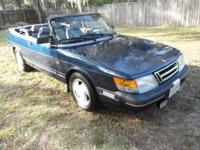 1993 SAAB 900 TURBO CONVERTIBLE Only 67,000 MILES. ONLY