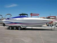 Twin 370 HP Mercruiser 454 Magnums (740 HP Total),