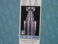1994-95 NY Rangers Tickets Stanley Cup Mark Messier, &