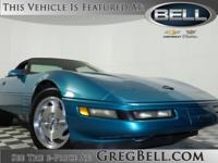 Corvette 2D Convertible, 5.7L, Blue, Alloy wheels,