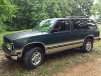 94 S-10 Blazer Tahoe LT 4.3 Vortec, Tinted windows, Cd