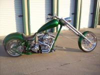 "This custom bike has a 96"" motor, 120hp, with lots of"