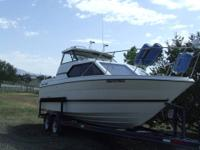 14' Fiberglass Duck Boat. 25 HSP Mercury Outboard, Boat