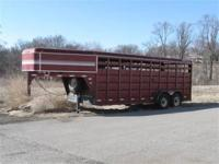 1994 Feather light stock trailer, 6.8x20. New jack.