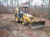 "1994 Ford 555D Backhoe, 3950 hrs, 18"" Bucket. Well"