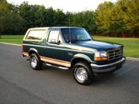 -Ford Bronco Eddie Bauer 5.8 liter!-46,100 Actual