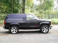 "Description 1994 GMC YUKON GT BLK, WITH 20 ""inch WHEELS"