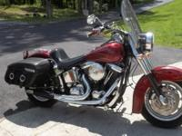 Beautiful 1994 Harley Soft Tail with a new Ebo Motor