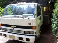 1994 Isuzu NPR landscaping truck with 142,894 miles.
