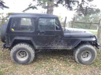1994 jeep wrangler, 35 in tires, 2.5 motor 5 speed