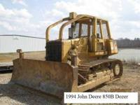1994 John Deere 850B Dozer, 4-Way blade, Brush ROPS,