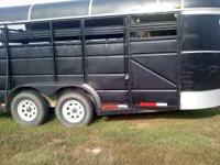 1994 PONDEROSA 3 TO 4 HORSE TRAILER BUMPERPULL HAS