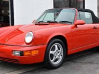 1994 Porsche Carrera 2 (964) Cabriolet Guards Red over