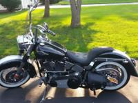 1994 softail custom (flstn ). It has 14 inch ape