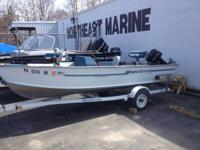 1994 Spectrum 14' Avenger C deep V with side console
