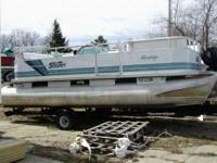 1994 Sylvan Pontoon with BBQ on board. 48 HP johnson