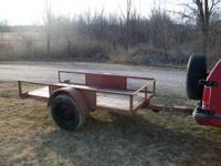 1994 starlite mfg. with title, 4 x 8 tilt bed trailer.