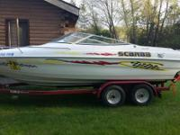 1994 Wellcraft Scarab 21' with Eagle Dual Axle Trailer.