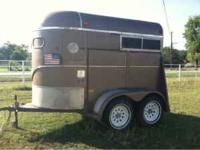 This is a 1994 ww 2 horse trailer in good condition new