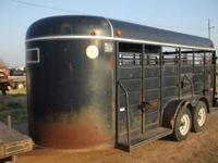 stock trailer is a 6x16 with rubber mats and good tires