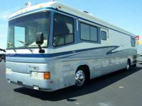 Diesel pusher motorhome, powered by a 8.3 Liter Cummins