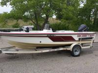 1995 17ft Deep V Skeeter boat with a 1995 88hp Johnson
