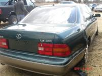Parting out a 1996 Lexus LS400 Green with gray leather