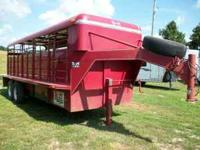 "1995 S&H 20ft stock trailer 6'8"" wide metal top solid"