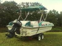 For Sale.... 1995 22 foot Deck Boat with 115 Evinrude