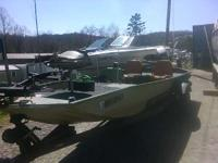 Trailer included. Trolling motor a fishing amenities