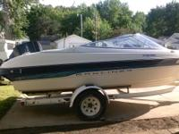 this boat is in good condition with Bimini top, 120