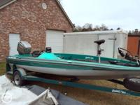 1995 Bumble Bee Pro V 180 Bass boat with a Mariner 150