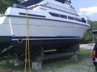 1995 Carver Santego 380. Twin Cruisader 454XL inboards,
