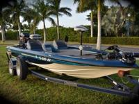 Champion Bass Boat powered by a Mercury 225 EFI with