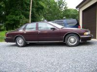1995 Caprice Classic, Burgundy with burgundy leather