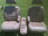 These are leather bucket seats out of a 1995 Chevy full