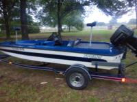 1995 sprint bass boat 90 hp motor new foot controlled