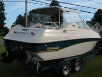 The boat is a 1995 Crownline 210 CCR. INCLUDED is a