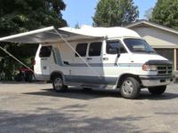 1995 Dodge Travel Inn 19 foot conversion camper van,