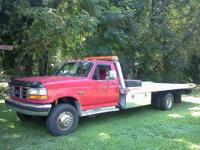 1995 F45 SUPERDUTY ROLLBACK. 7.5 460 GAS ENGINE, 5SPD