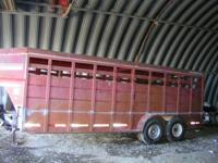1995 20ft Featherlite Steel Trailer. Has a bang