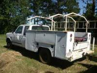 1995 Ford F-350, dually, extended cab, 8' service body,