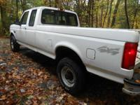 I have a white 1995 Ford F250 XL with a clear title for