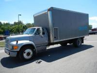 1995 Ford F700 Box Truck with Insulation Blower System,