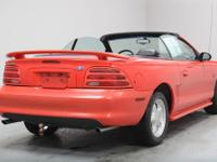 ONE OWNER!! This 1995 Ford Mustang GT Convertible was