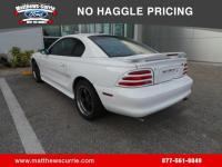 This 1995 Ford Mustang Cobra in White features: Must