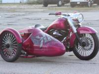 My wife's Custom Road King w/ Custom sidecar  Bike was
